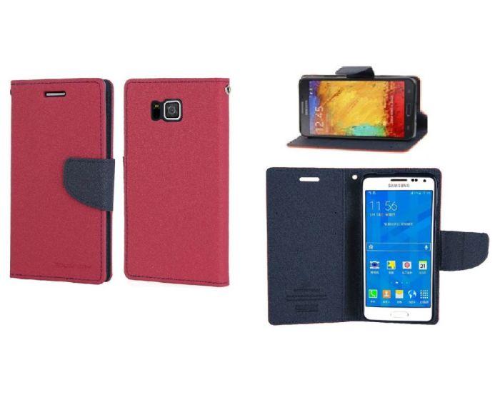 Mercury Case Θήκη Πορτοφόλι Pink (Samsung Galaxy Alpha)