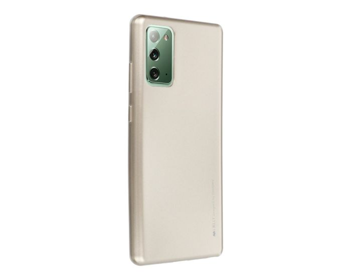 Mercury i-Jelly Slim Fit Case Θήκη Σιλικόνης Gold (Samsung Galaxy Note 20)