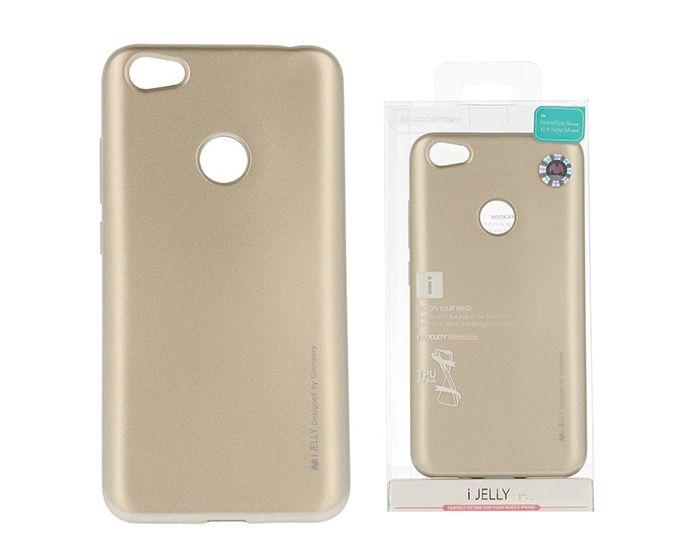 Mercury i-Jelly Slim Fit Case Θήκη Σιλικόνης Gold (Xiaomi Redmi Note 5A Prime)