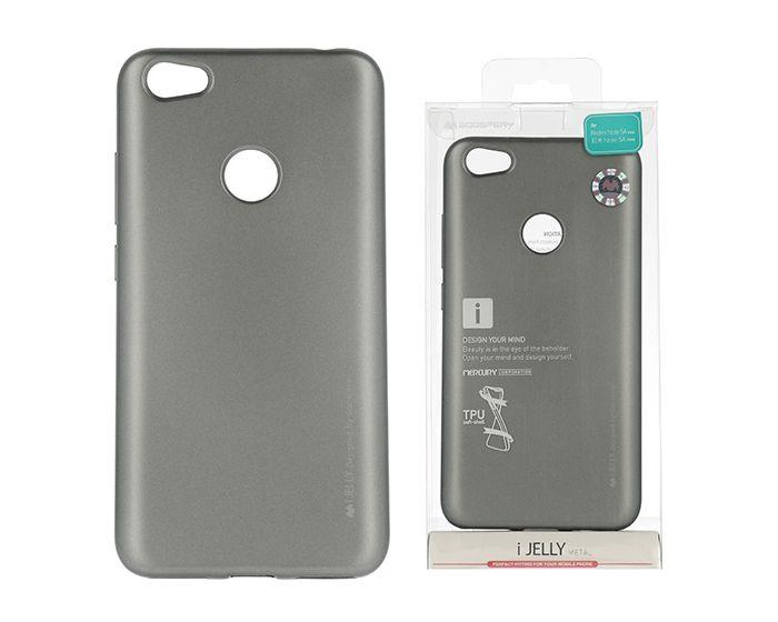 Mercury i-Jelly Slim Fit Case Θήκη Σιλικόνης Grey (Xiaomi Redmi Note 5A Prime)