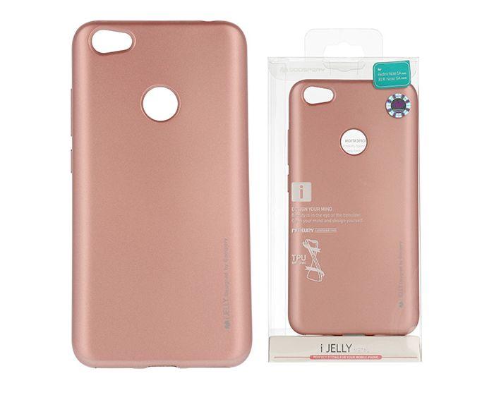 Mercury i-Jelly Slim Fit Case Θήκη Σιλικόνης Rose Gold (Xiaomi Redmi Note 5A Prime)