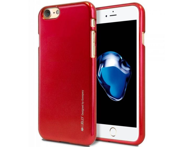 Mercury i-Jelly Slim Fit Case Θήκη Σιλικόνης Red (iPhone 7 / 8 / SE 2020)