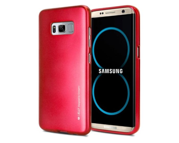 Mercury i-Jelly Slim Fit Case Θήκη Σιλικόνης Red (Samsung Galaxy S8 Plus)