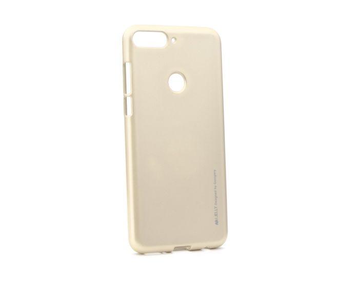 Mercury i-Jelly Slim Fit Case Θήκη Σιλικόνης Gold (Huawei Y7 Prime 2018)