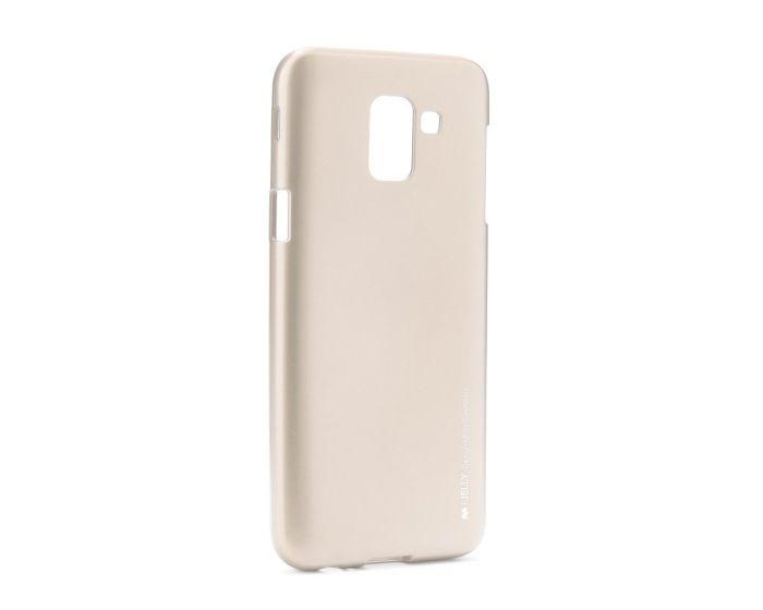 Mercury i-Jelly Slim Fit Case Θήκη Σιλικόνης Gold (Samsung Galaxy J6 2018)