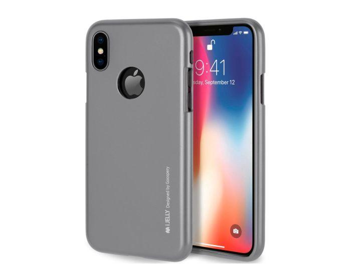 Mercury i-Jelly Slim Fit Case Θήκη Σιλικόνης Grey (iPhone Xs Max)