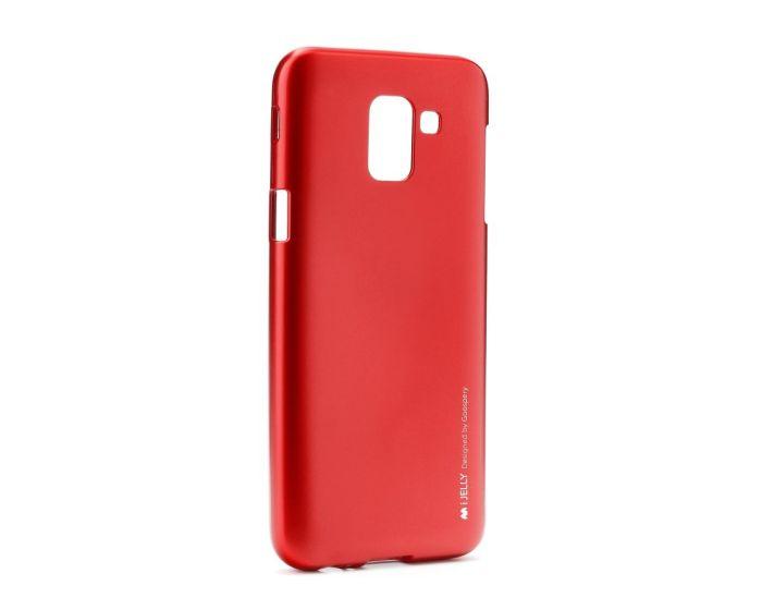 Mercury i-Jelly Slim Fit Case Θήκη Σιλικόνης Red (Samsung Galaxy J6 2018)