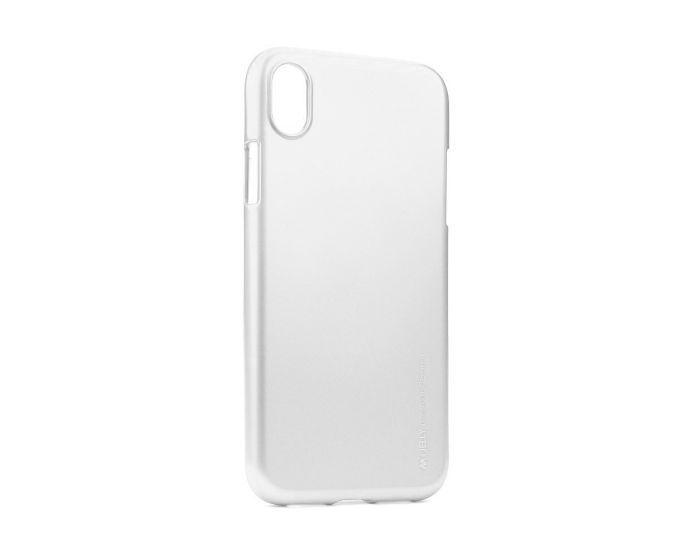Mercury i-Jelly Slim Fit Case Θήκη Σιλικόνης Silver (iPhone XR)