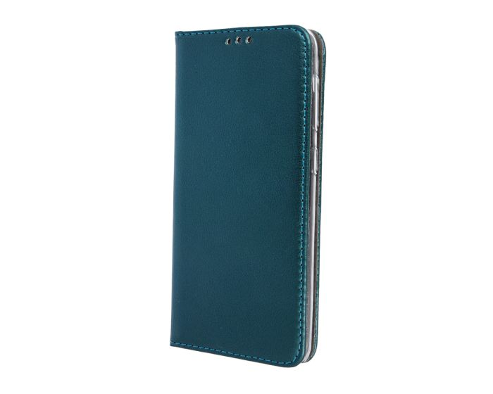 Forcell Magnet Wallet Case Θήκη Πορτοφόλι με δυνατότητα Stand Dark Green (Huawei P40)