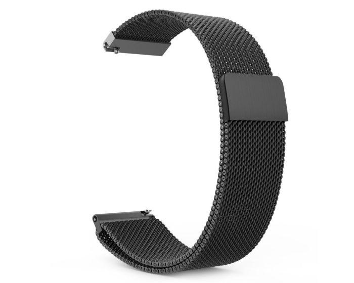 TECH-PROTECT Milanese Stainless Steel Watch Strap Black (περιλαμβάνει τα μεταλλικά κουμπώματα) για Samsung Galaxy Watch 46mm