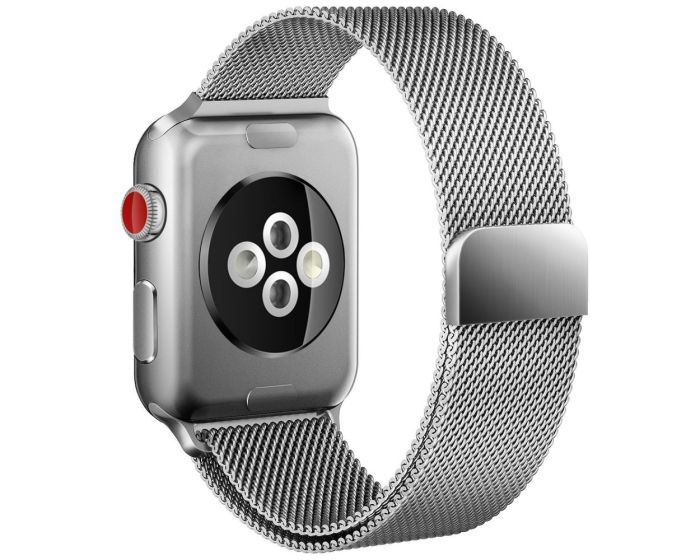 TECH-PROTECT Milanese Stainless Steel Watch Strap Silver (περιλαμβάνει τα μεταλλικά κουμπώματα) για Apple Watch 38/40mm (1/2/3/4/5/6/SE)