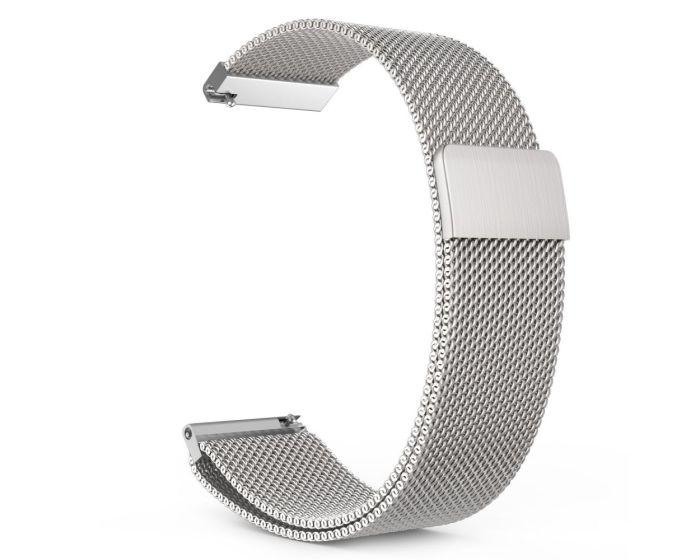TECH-PROTECT Milanese Stainless Steel Watch Strap Silver (περιλαμβάνει τα μεταλλικά κουμπώματα) για Samsung Galaxy Watch 42mm