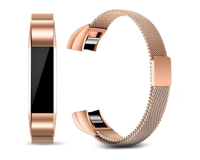TECH-PROTECT Milanese Stainless Steel Watch Strap Rose Gold για Fitbit Alta