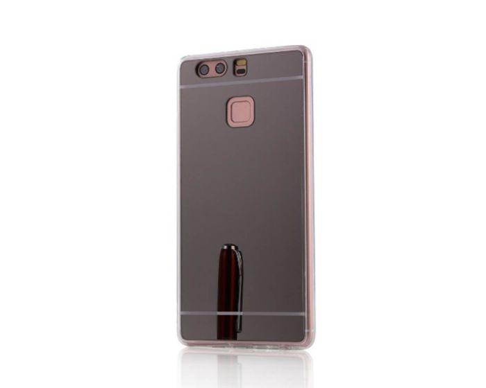 Forcell Mirror Slim Fit Gel Case Θήκη Σιλικόνης Black (Huawei P9)