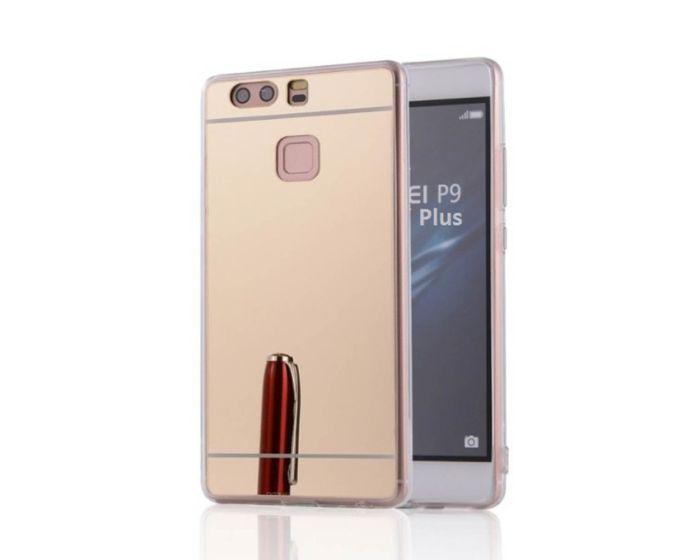 Forcell Mirror Slim Fit Gel Case Θήκη Σιλικόνης - Gold (Huawei P9 Plus)