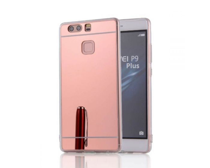 Forcell Mirror Slim Fit Gel Case Θήκη Σιλικόνης - Pink (Huawei P9 Plus)