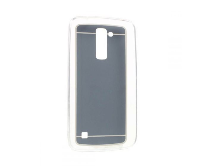 Forcell Mirror Slim Fit Gel Case Θήκη Σιλικόνης Black (LG K10)