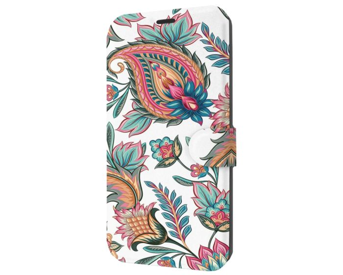 Mobiwear Book Stand Case Θήκη (MD10S) Vintage Flowers (Xiaomi Redmi Note 9s / 9 Pro / 9 Pro Max)