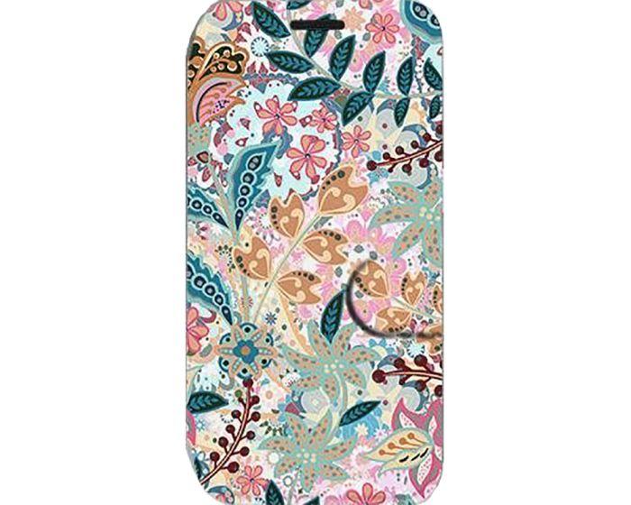 Mobiwear Book Stand Case Θήκη (MX04S) Intricate Flowers (Xiaomi Redmi 9)
