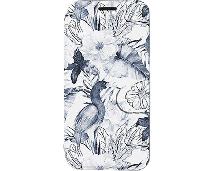 Mobiwear Book Stand Case Θήκη (MX09S) Blue Flowers (Samsung Galaxy A21s)