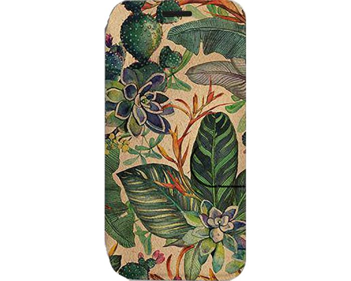 Mobiwear Book Stand Case Θήκη (VP05S) Succulent Flowers (Xiaomi Redmi Note 9s / 9 Pro / 9 Pro Max)