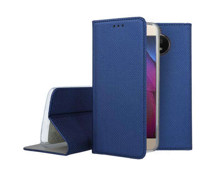Forcell Smart Book Case με Δυνατότητα Stand Θήκη Πορτοφόλι Navy Blue (Motorola Moto G5s)