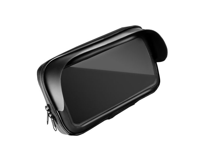 Moto / Scooter Phone Holder with Zip and Hood Βάση Στήριξης Μηχανής / Σκούτερ - Black