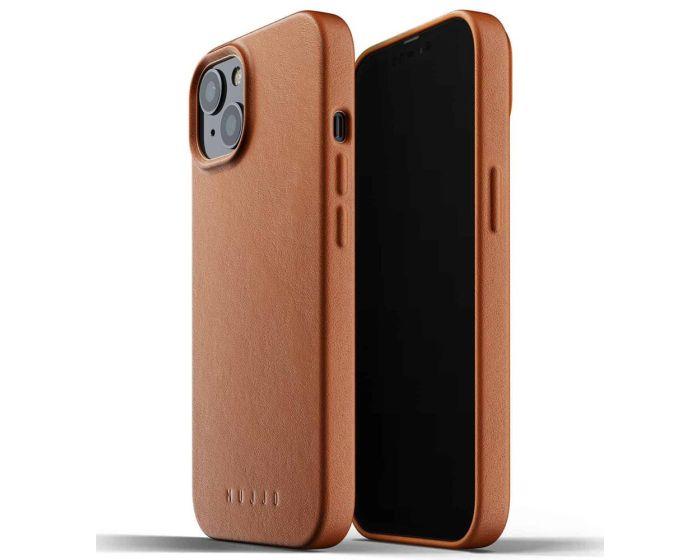 Mujjo Full Leather Classic Case (MUJJO-CL-021-TN) Δερμάτινη Θήκη - Tan Brown (iPhone 13)