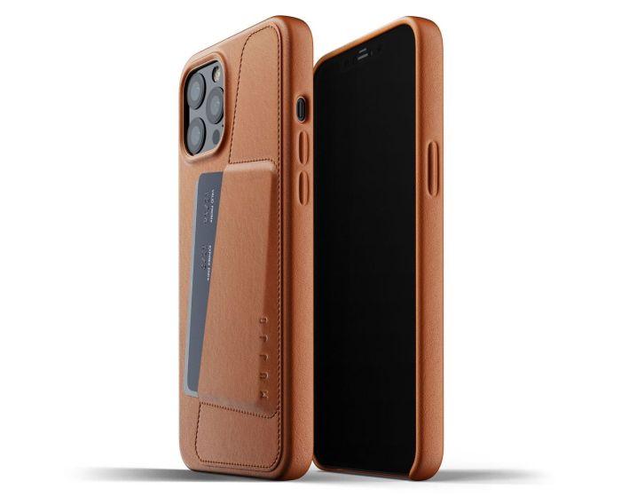 Mujjo Full Leather Wallet Case Δερμάτινη Θήκη - Tan (iPhone 12 Pro Max)