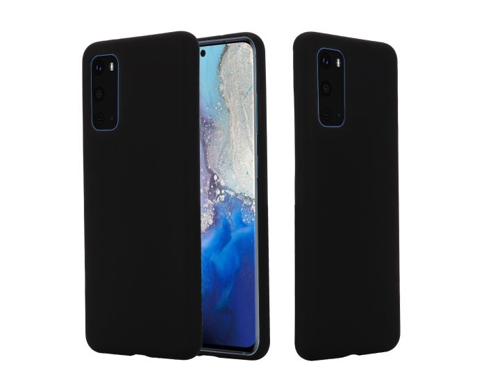 My Colors Original Liquid Silicone Case Θήκη Σιλικόνης Black (Samsung Galaxy S20 Plus)