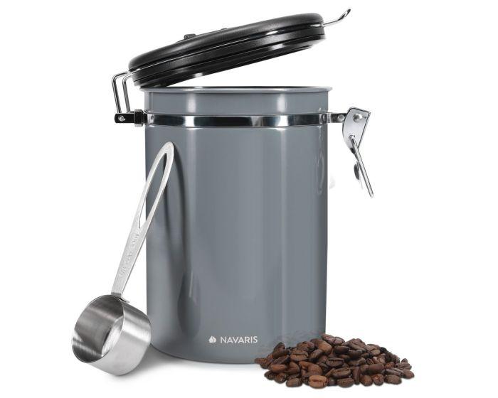 Navaris Airtight Coffee Canister (50787.3.19) Δοχείο Αποθήκευσης από Ανοξείδωτο Ατσάλι για Κόκκους Καφέ