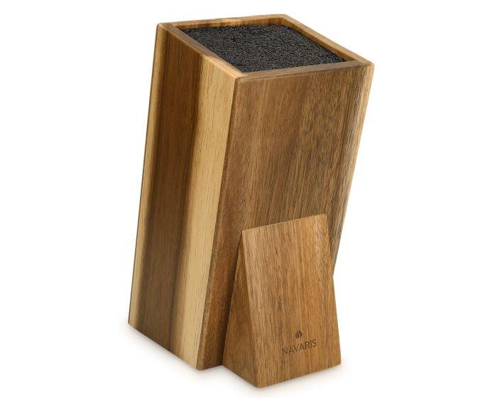 Navaris Angled Wooden Kitchen Knife Block (48460.01.2) Ξύλινη Βάση Στήριξης για Μαχαίρια
