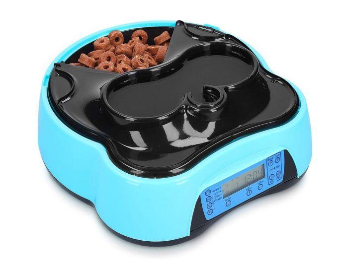 Navaris Automatic Pet Food and Water Dispenser with Timer (44769.02) Αυτόματο Μηχάνημα Τροφής και Νερού για Κατοικίδια - Blue / Black
