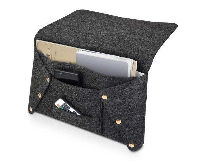 Navaris Bedside Pocket Organiser (51317.19) Θήκη Αποθήκευσης για Κρεβάτι / Καναπέ - Dark Grey