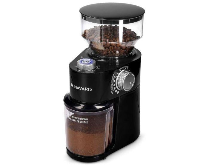 Navaris Electric Coffee Grinder (48461.03) Μύλος Καφέ με Δίσκο από Ανοξείδωτο Ατσάλι 200W