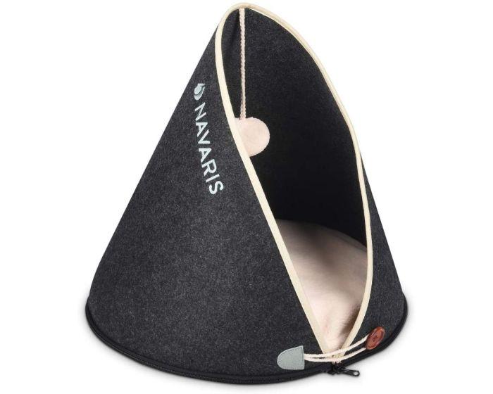 Navaris Felt Cat Cave Basket (49650.01) Κρεβάτι Σπηλιά για Γάτες - Grey