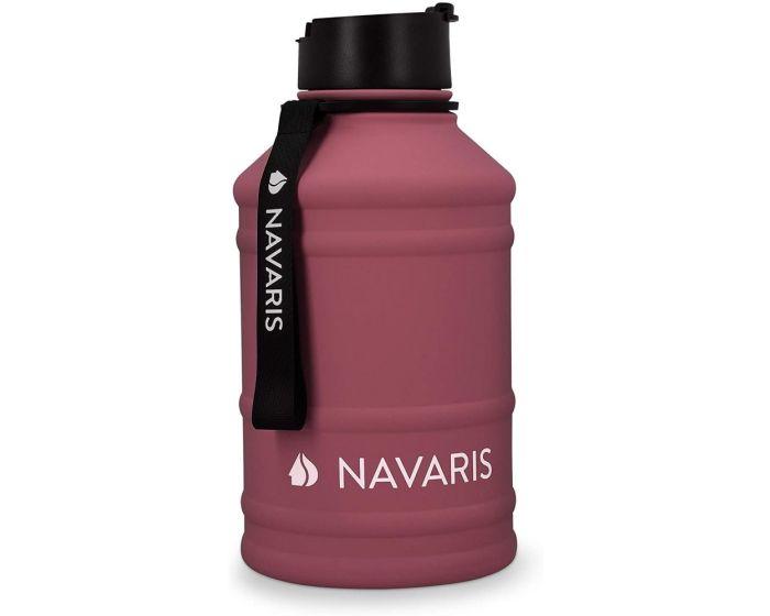 Navaris Stainless Steel Sports Water Bottle (51084.26) 2.2L Ανοξείδωτο Παγούρι - Bordeaux