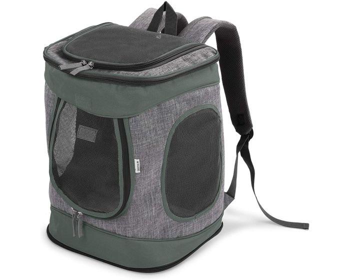Navaris Foldable Backpack for Pets 33 x 28 x 43 cm (51299.02) Τσάντα Μεταφοράς Κατοικιδίων - Grey