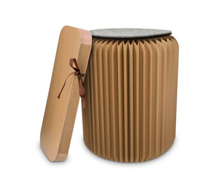 Navaris Folding Kraft Paper Stool (46266.05) Αναδιπλούμενο Σκαμπό - Καφέ