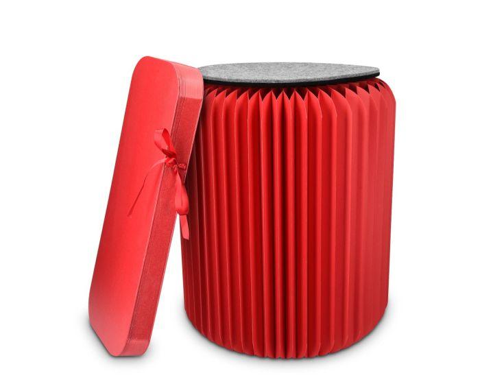 Navaris Folding Kraft Paper Stool (46266.09) Αναδιπλούμενο Σκαμπό - Κόκκινο