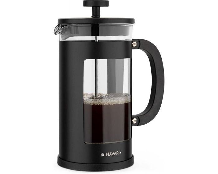 Navaris French Press Coffee Maker with Stainless Steel Filter 1L (46547.02.3) Γαλλική Καφετιέρα - Black
