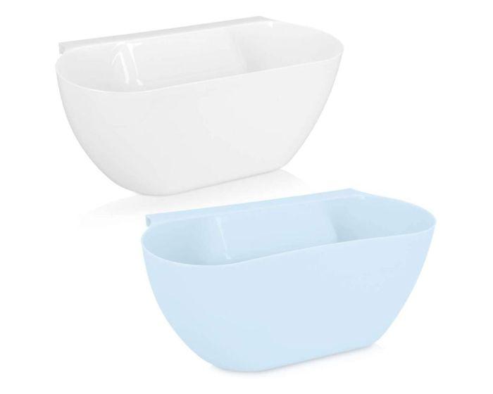 Navaris Hanging Kitchen Waste Bins (Set of 2) (46978.02) Κάδοι Απορριμμάτων Κουζίνας White / Blue