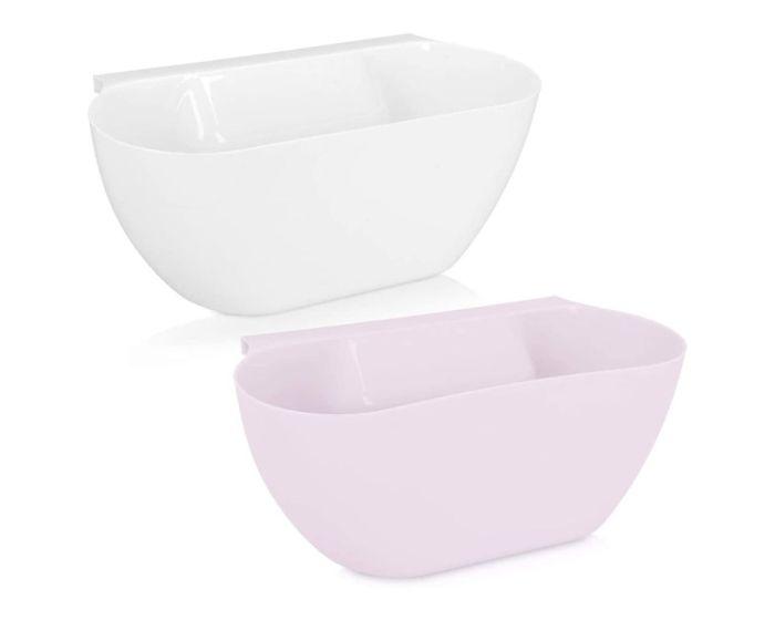 Navaris Hanging Kitchen Waste Bins (Set of 2) (46978.03) Κάδοι Απορριμμάτων Κουζίνας White / Pink