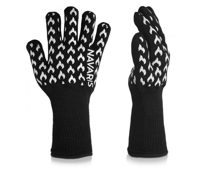 Navaris Heat Resistant Grill Gloves (44050) Πυρίμαχα Γάντια Φούρνου