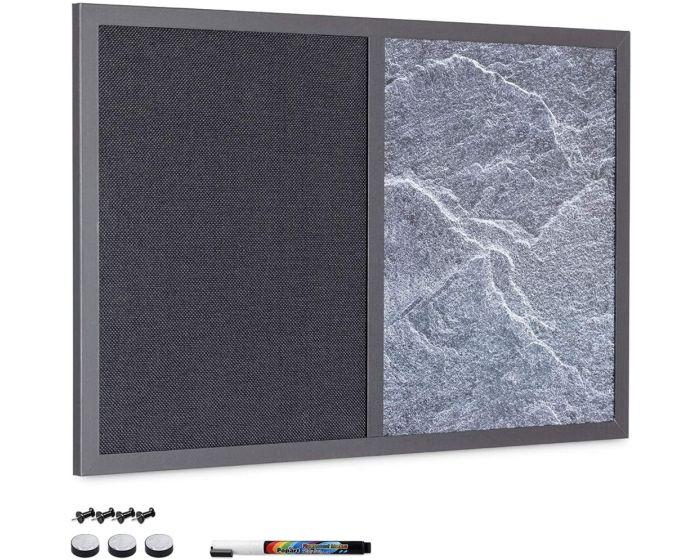 Navaris Magnetic Combination Dry Wipe and Textile Board (53027.01.6) Μαγνητικός Συνδυαστικός Πίνακας Σημειώσεων 60 x 40