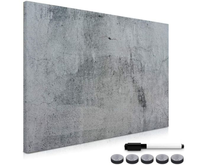 Navaris Magnetic Notice Board for Writing (49997.04) Μαγνητικός Πίνακας Σημειώσεων 60 x 90 - Concrete