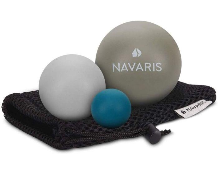Navaris Set of 3 Massage Balls (51746.22.04) Σετ Μπάλες για Μασάζ - Gray