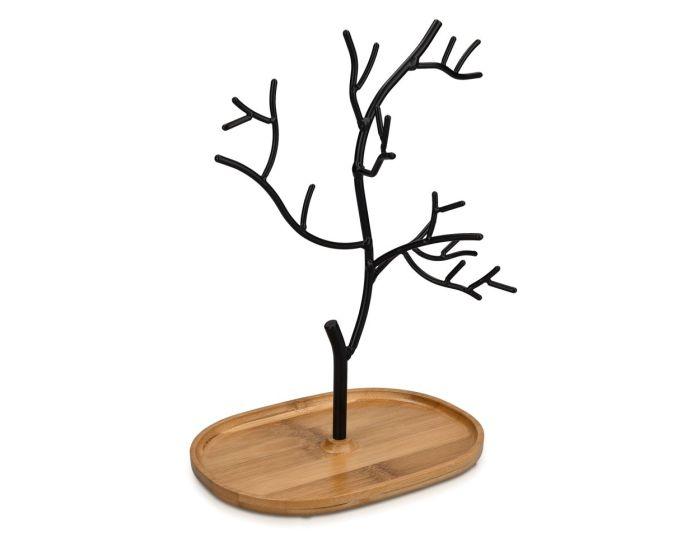 Navaris Metal Jewellery Tree Stand (45615.01) Βάση Κοσμημάτων - Black Oak