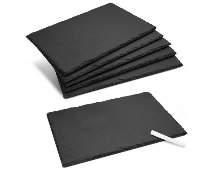 Navaris Natural Slate Serving Plates 30 x 20 (47683.06.02) Πλάκες Σερβιρίσματος από Σχιστόλιθο Σετ 6 τεμαχίων