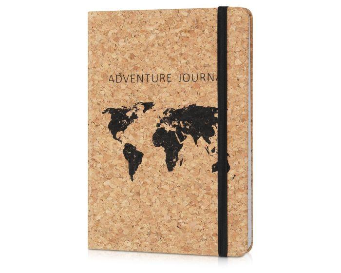 Navaris Notebook with Cork Cover (48477.01) Τετράδιο με Εξώφυλλο από Φελλό - World Map